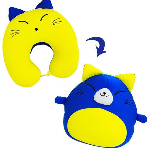 日本製のノベルティグッズ・OEM生産・販促品におすすめのオリジナル商品「変身ネックピロー」